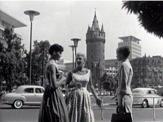 Verzückt von einer DVD: Ich hab' Frankfurt wiederentdeckt! Schwarzweiß und ohne Skyline.